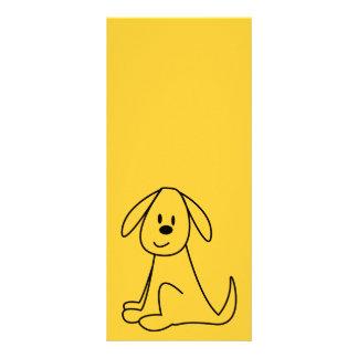 STICK DOG CUTE HAPPY CARTOON PETS ANIMALS RACK CARD DESIGN