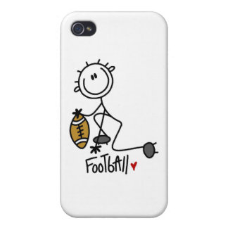 Stick Figure Basic Football and Gifts Case For iPhone 4