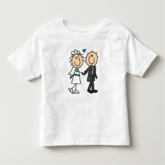 Stick Figure Bride and Groom T-shirts and Gifts