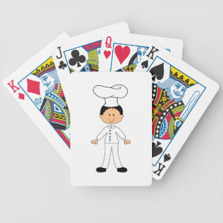 STICK FIGURE CHEF BICYCLE PLAYING CARDS