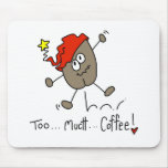 Stick Figure Coffee Bean Mousepad