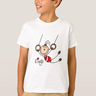 Stick figure girl on Rings Tshirts and Gifts