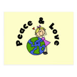 Stick Figure Girl Peace and Love T-shirts and Gift