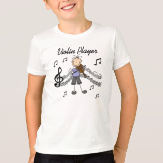 Stick Figure Girl Violin Player T-shirts and Gifts