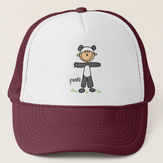 Stick Figure In Panda Suit Hat