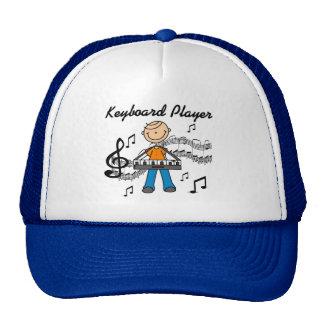 Stick Figure Male Keyboard Player Gifts Trucker Hat