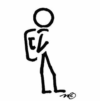 stick figure photo sculpture
