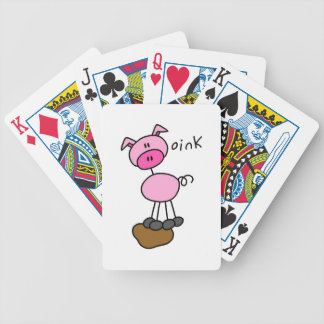 Stick Figure Pig T-shirts and Gifts Bicycle Playing Cards