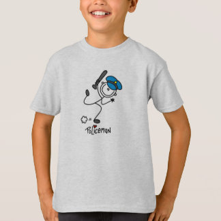 Stick Figure Police Officer T-Shirt
