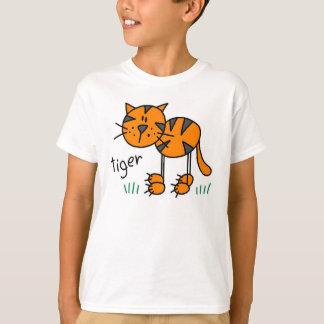 Stick Figure Tiger T-Shirt