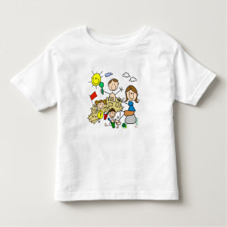Stick Figures Family Beach Fun Toddler T-Shirt