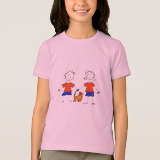 Stick Kids With Cat T-Shirt
