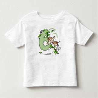 Stick Monkey Swing 6th Birthday Toddler T-Shirt