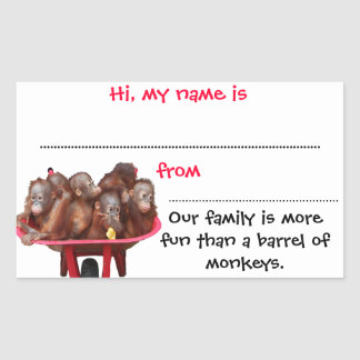 Stick-on Name Badges for Reunions Rectangular Stickers