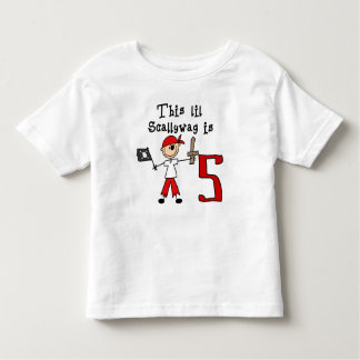 Stick Pirate 5th Birthday Toddler T-Shirt