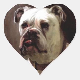 Sticker Bulldog Expression Love Heart Bullie Dog