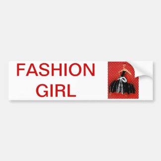 sticker conveys FASHION GIRL
