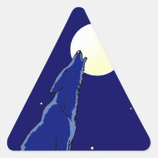 Sticker Coyote Full Moon Madness Night Howl Stars