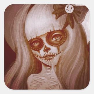 Sticker Day Dead Girl Sylvia Lizarraga Art