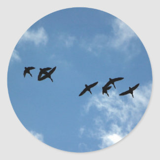 Sticker - Geese in flight