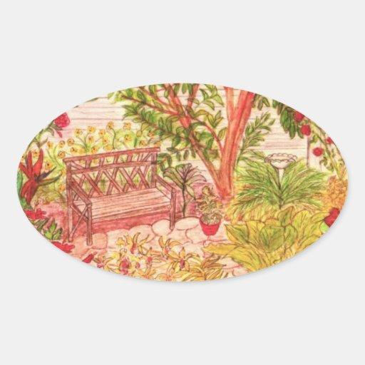 Sticker-Peaceful Garden Settings