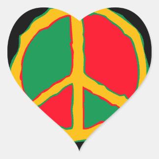 Sticker Retro Freestyle Peace Symbol heart love