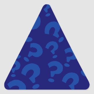 Sticker Stationery Question Mark Art Blue Triangle