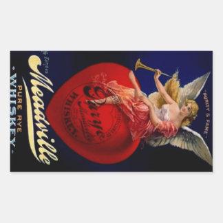 Sticker Vintage Meadville Pure Rye Whiskey Angel
