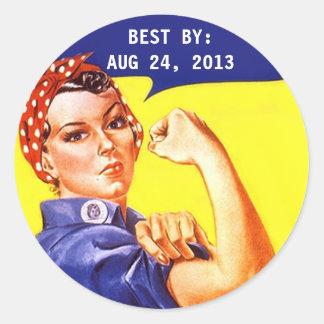 Sticker Vintage Rosie The Riveter Canning BEST BY