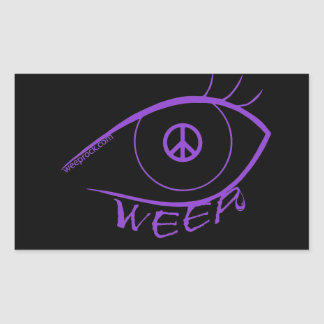 Sticker-WEEP weeping eye Peace sign Sticker