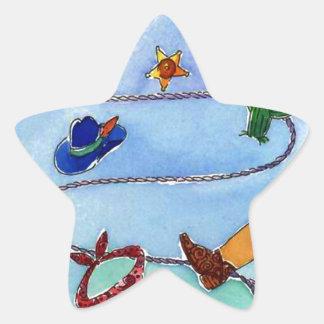Sticker Western Cowboy Cowgirl Boots Hat Bandana +
