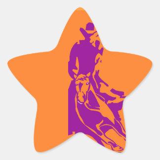 Sticker Western Performance Stock Cutting Horse