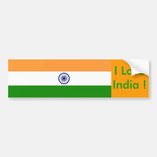 Sticker with Flag of India Bumper Sticker