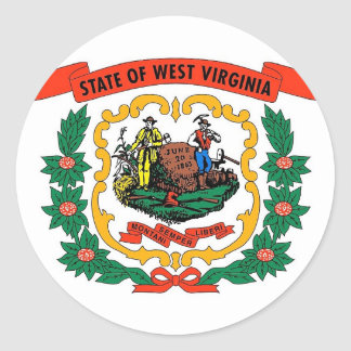 Sticker with Flag of West Virginia