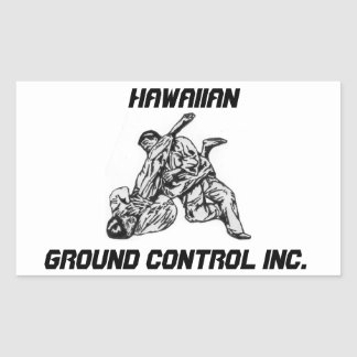 Sticker with Hawaiian Ground Control Inc logo