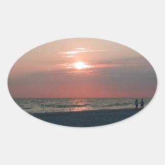 sticker with photo of beautiful sunset