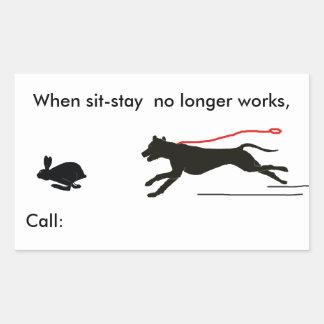 Stickers- Dog Trainer's humor Rectangular Sticker