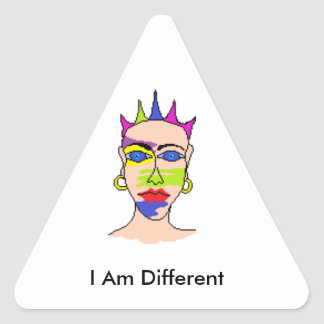 "Stickers for unusual people ""I am different"""