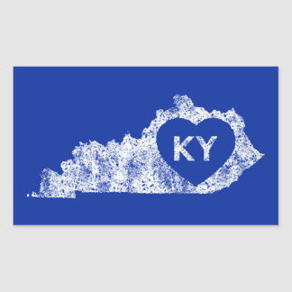 Stickers Used I Love Kentucky State