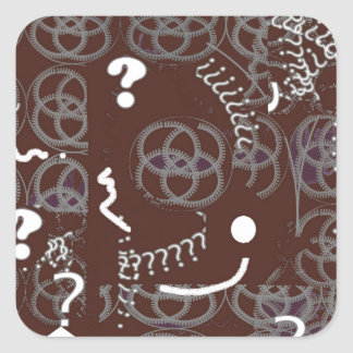 Stickers with Brown Abstract Design