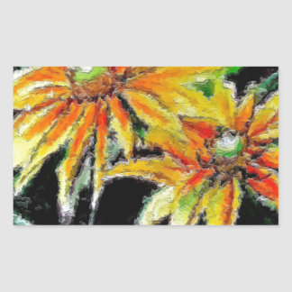 Stickers with Sunflower Art