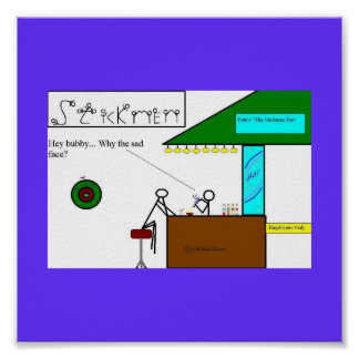 Stickmen Bar Scene Poster