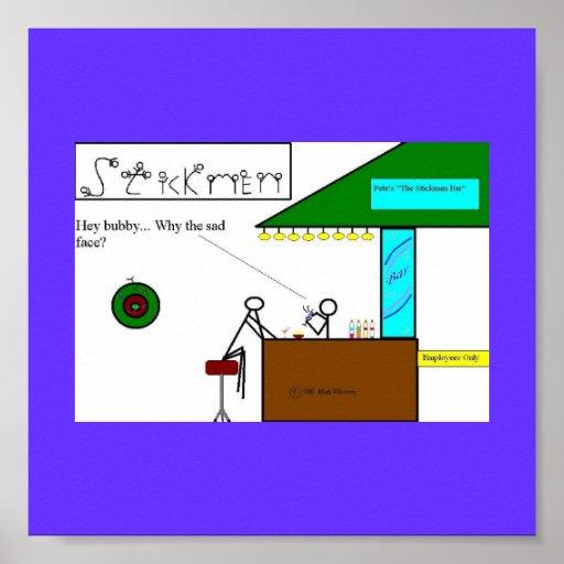 Stickmen Bar Scene Poster