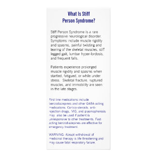 Stiff Person Syndrome Information Card Customized Rack Card