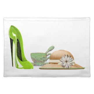 Stiletto shoe art placemats