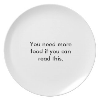 still hungry? plate