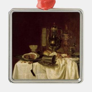 Still Life, 1638 Silver-Colored Square Decoration
