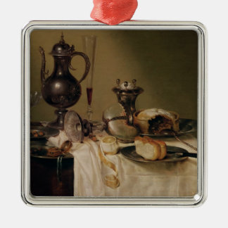 Still Life, 1642 Silver-Colored Square Decoration