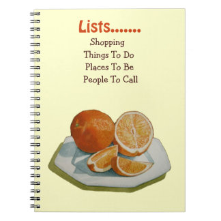 Still life fruit and oranges realist art note book