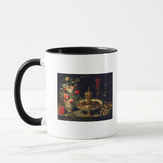 Still Life of Flowers and Dried Fruit, 1611 Mug